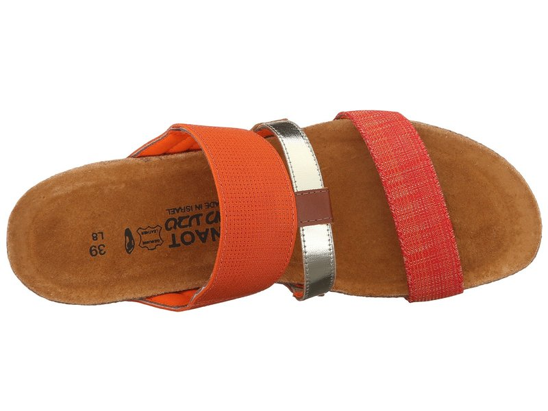 ナオト レディース サンダル シューズ Brenda Orange Gore/Orange Fabric/Black/White Gore/Maple Brown Leather