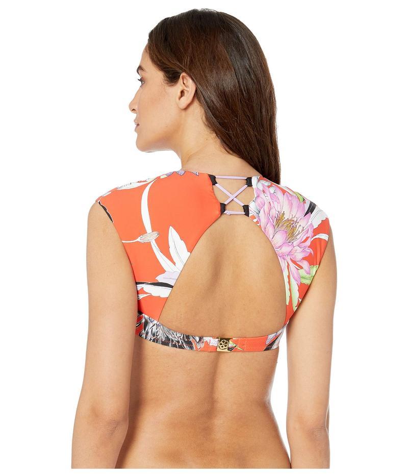 トリーナターク レディース トップのみ 水着 Shangri LA Floral Cap Sleeve Underwire Top Flame