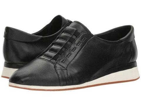 ハッシュパピー レディース スニーカー シューズ Evaro Slip-On Oxford Black Leather