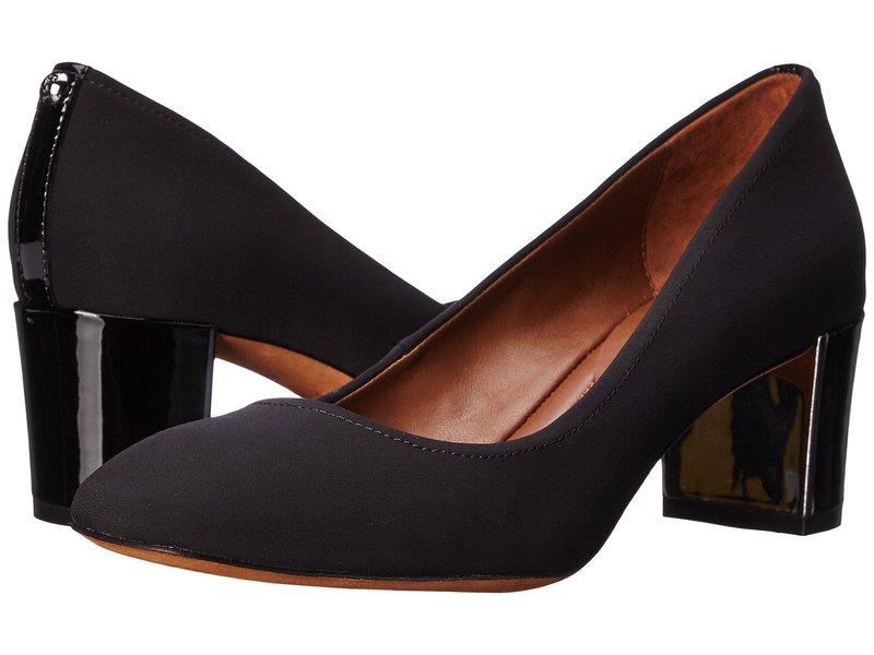 レディース靴, ミュール  Corin Black Crepe Elastic