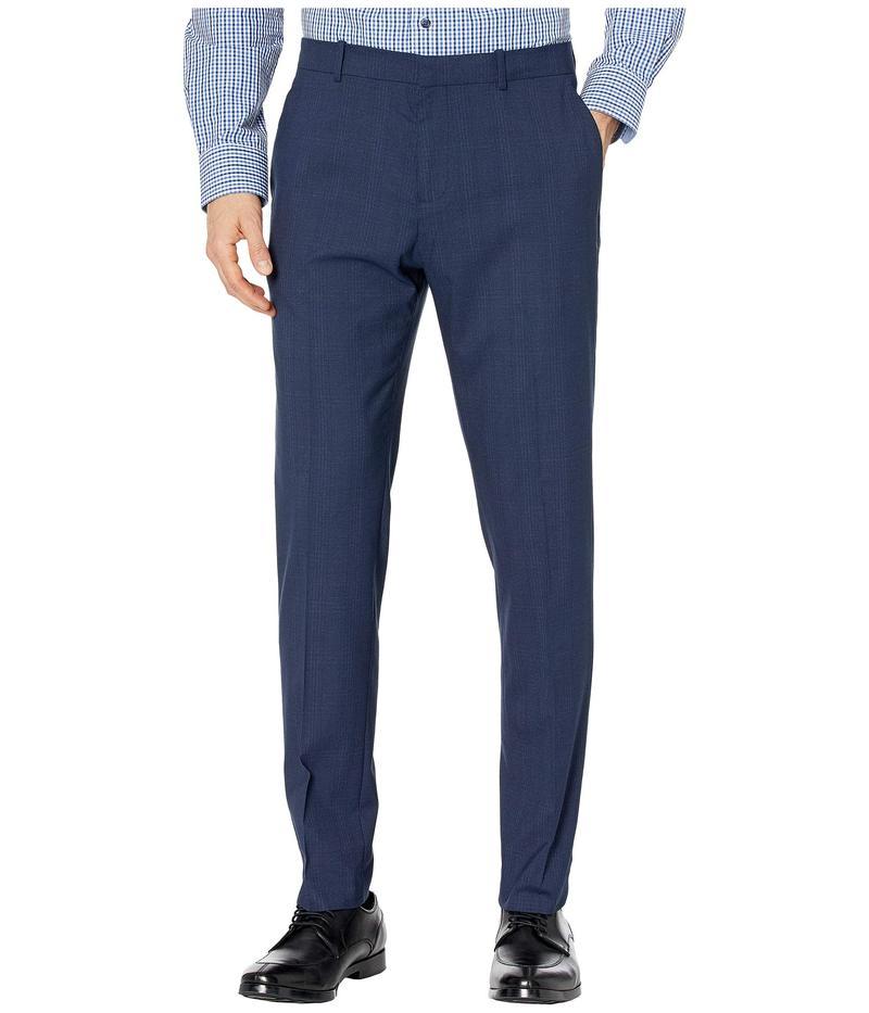 メンズファッション, ズボン・パンツ  Very Slim Subtle Plaid Dress Pants Navy