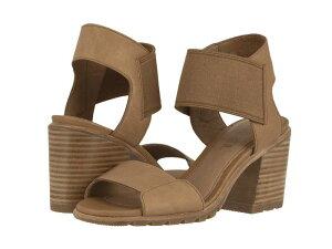 ソレル レディース ヒール シューズ Nadia¢ Sandal Camel Brown Full Grain Leather