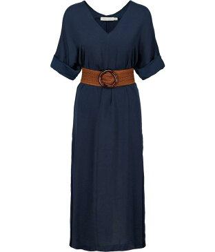 ビショップアンドヤング レディース ワンピース トップス Balinese Belted Dress Navy
