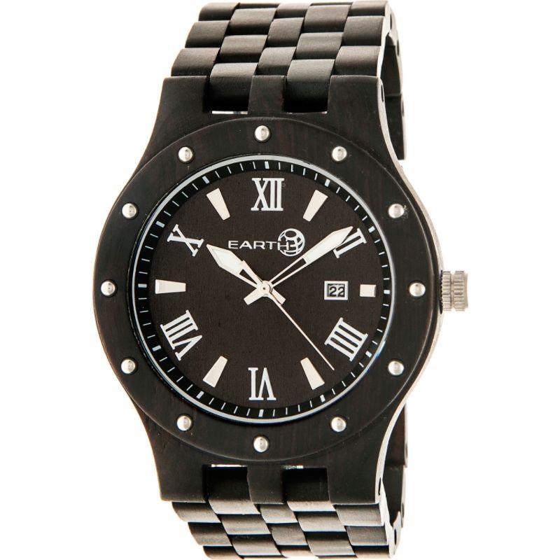 アースウッド メンズ 腕時計 アクセサリー Inyo Wood Watch Dark Brown
