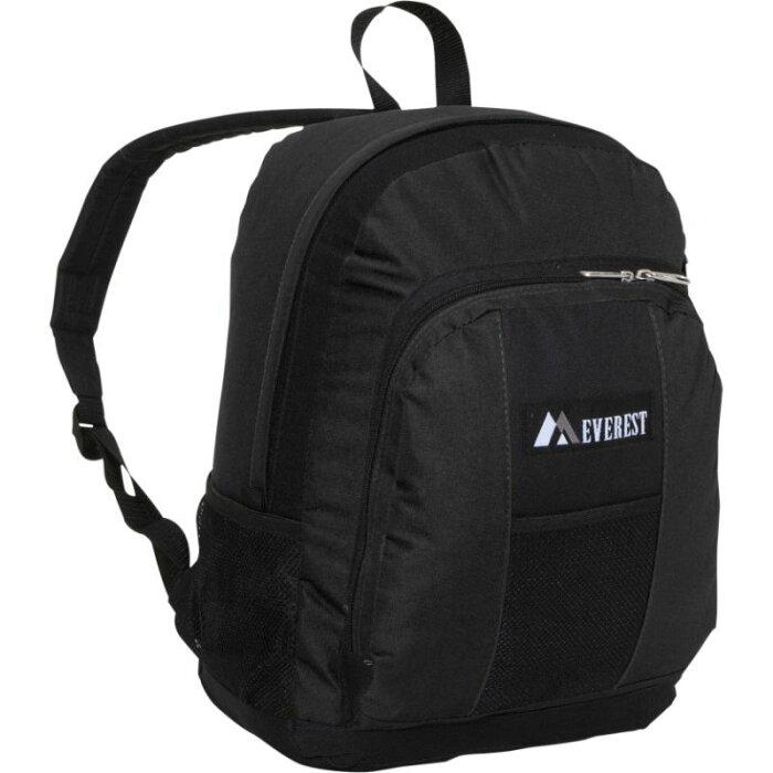 エバーレスト メンズ バックパック・リュックサック バッグ Backpack with Front & Side Pockets Black