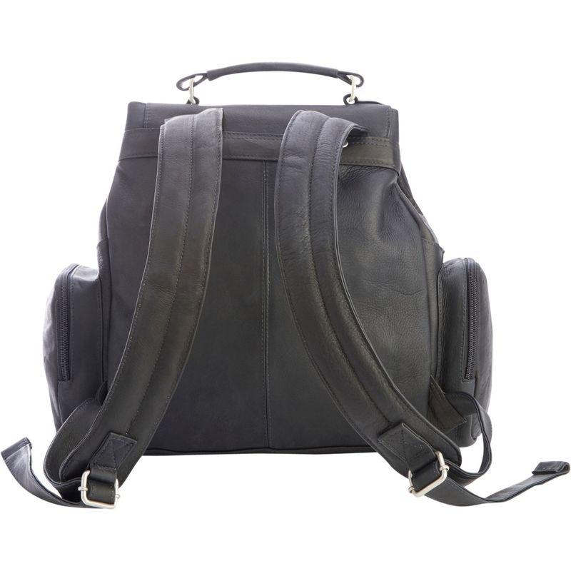 ロイスレザー メンズ バックパック・リュックサック バッグ Colombian Leather Expandable Backpack Black