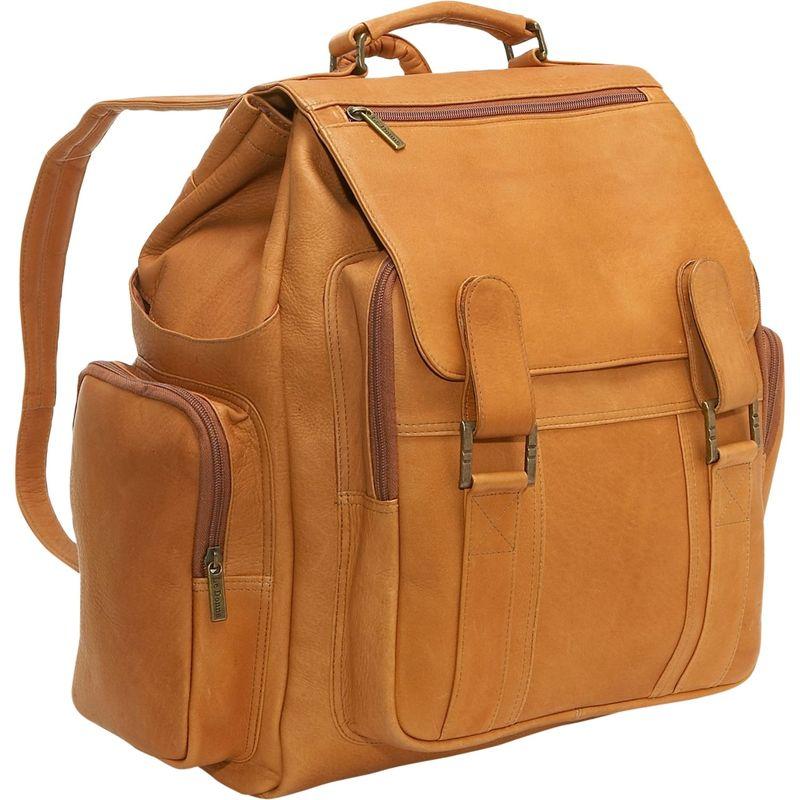 ルドネレザー メンズ バックパック・リュックサック バッグ Large Traveler Back Pack Tan