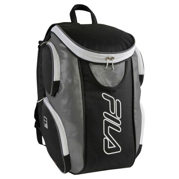 フィラ メンズ ボストンバッグ バッグ Ultimate Tennis Backpack with Shoe Pocket Black/Grey