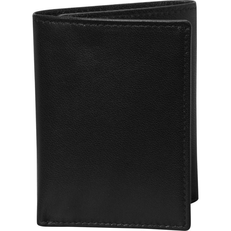 財布・ケース, メンズ財布  Nappa Soft Leather Trifold Wallet Black