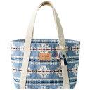ペンドルトン レディース トートバッグ バッグ Pendleton Cotton Tote Bag - Women's Chief Joseph Blue