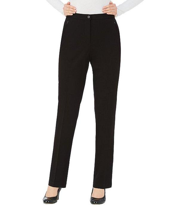 アリソン デイリー レディース カジュアルパンツ ボトムス Comfort Waist Straight Leg Pants black