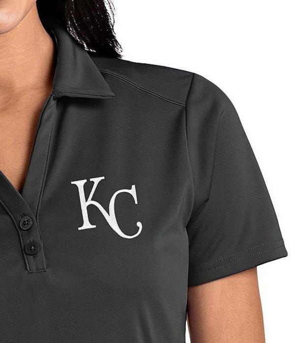 アンティグア レディース Tシャツ トップス Women's MLB Tribute Short-Sleeve Polo Shirt Kansas City Royals Smoke