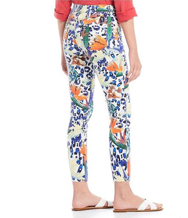 ヒュー レディース カジュアルパンツ ボトムス Tropical Animal Ultra Soft Denim Capri Legging Multicolor