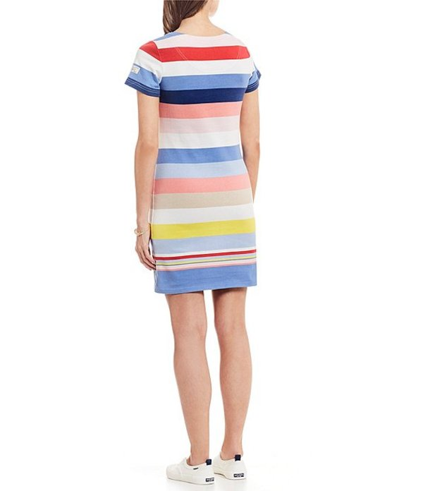 ジュールズ レディース ワンピース トップス Riviera Striped Colorblock Short Sleeve Sheath Dress Blue Multi Stripe
