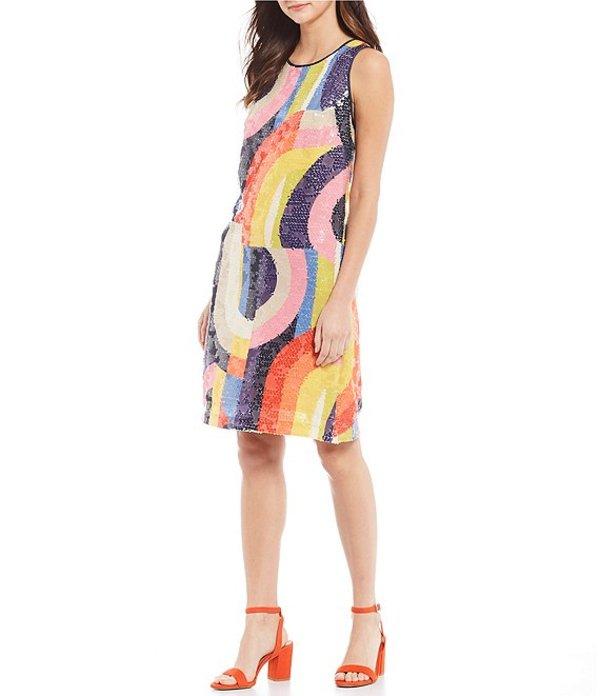 トリーナターク レディース ワンピース トップス Kaleidoscope Sequin Straight Dress Multi