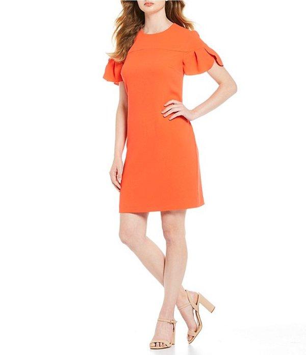 トリーナターク レディース ワンピース トップス Jacinta Crepe Short Flutter Sleeve Shift Dress Vermilion