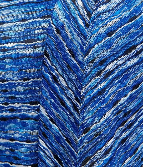 アリソン デイリー レディース カーディガン アウター Space Dye Jacquard Knit Open Front Cardigan Cobalt Multi