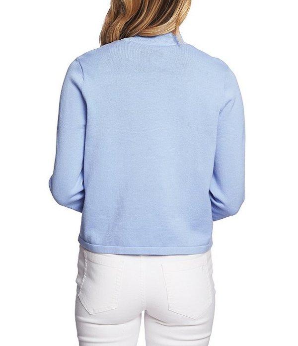 セセ レディース カーディガン アウター Scalloped Open Front Cardigan Blue Bella