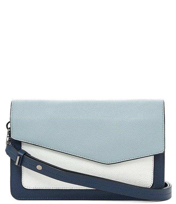レディースバッグ, ショルダーバッグ・メッセンジャーバッグ  Cobble Hill Pebble Leather Colorblock Flap Snap Shoulder Bag InkMulti