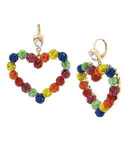 ベッツィジョンソン レディース ピアス・イヤリング アクセサリー Rainbow Stone Fireball Heart Drop Earrings Rainbow