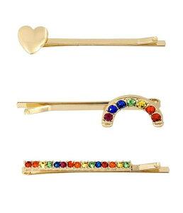 ベッツィジョンソン レディース 帽子 アクセサリー Rainbow Stone Hair Pin Set Rainbow