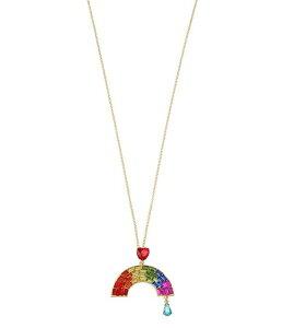 ベッツィジョンソン レディース ネックレス・チョーカー アクセサリー Rainbow Stone Pendant Long Necklace Rainbow