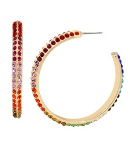 ベッツィジョンソン レディース ピアス・イヤリング アクセサリー Rainbow Stone Hoop Earrings Rainbow