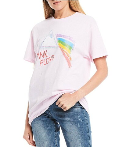 ジャンクフード レディース Tシャツ トップス Pink Floyd Short Sleeve Graphic Tee Soft Pink