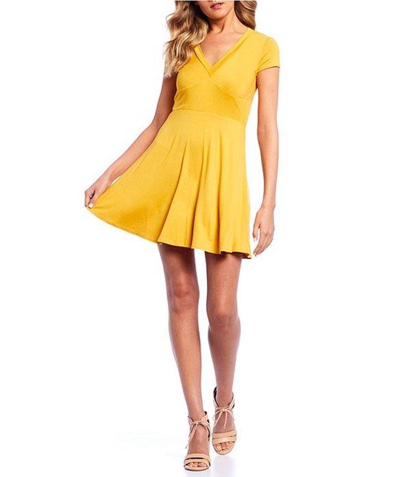 ビーダーリン レディース ワンピース トップス Cap Sleeve Fit & Flare Dress Mustard