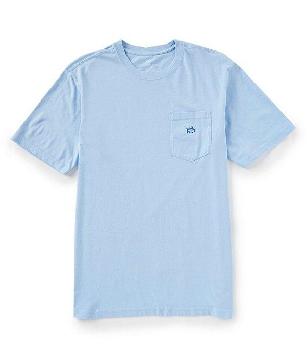 サウザーンタイド レディース Tシャツ トップス Embroidered Outline Skipjack Short-Sleeve Tee Sky Blue
