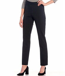 インベストメンツ レディース カジュアルパンツ ボトムス Petite Size the 5th AVE fit Side Zip Slim Leg Pants Black