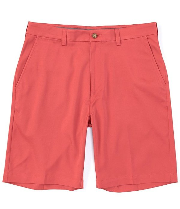 メンズファッション, ズボン・パンツ  Performance 9double; Inseam Flat Front CoreComfort Shorts Berry Red