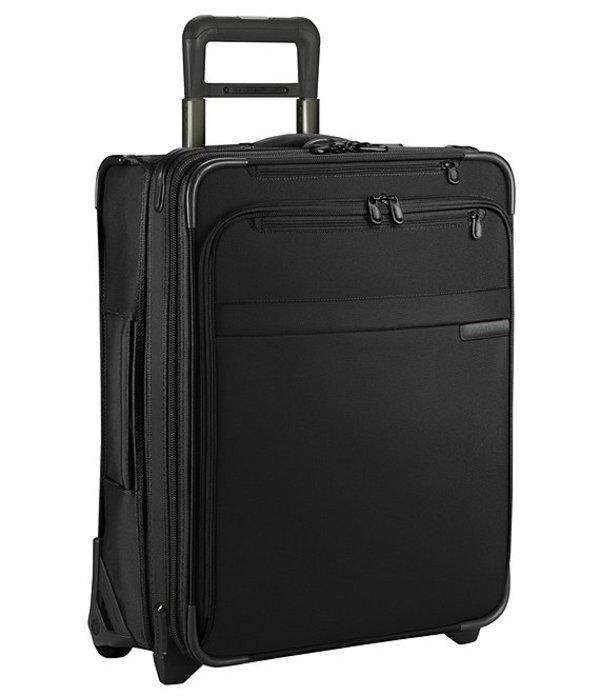 """ブリグスアンドライリー メンズ スーツケース バッグ Baseline 21"""" International Carry-On Expandable Wide-Body Upright Black"""
