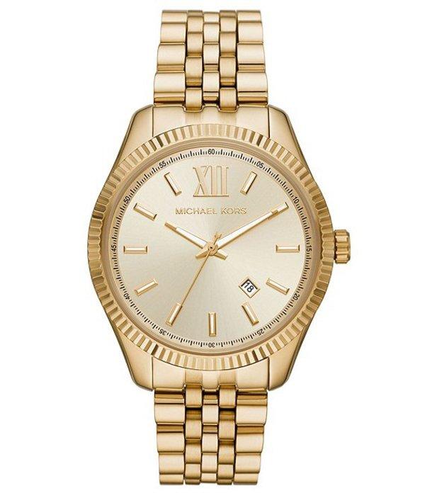 腕時計, メンズ腕時計  Lexington Three-Hand Date Gold-Tone Stainless Steel Watch Gold