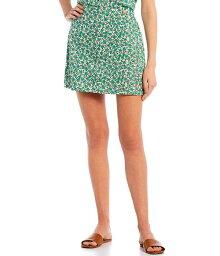 カッパーキー レディース スカート ボトムス Coordinating Floral Print Skirt Green