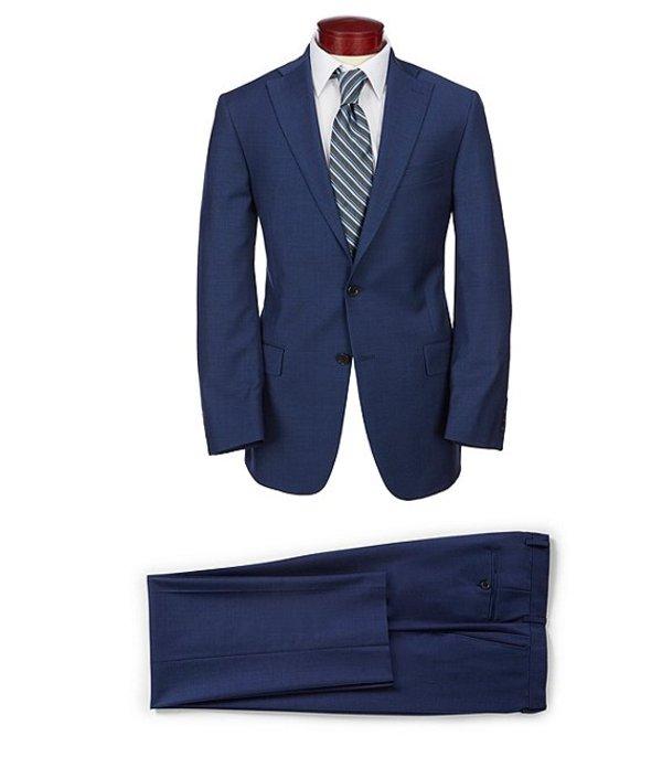 ハート シャフナー マルクス メンズ ジャケット・ブルゾン アウター Classic Fit Solid Single Breasted Suit Blue