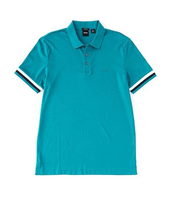 ヒューゴボス メンズ シャツ トップス BOSS Parlay Interlock Short-Sleeve Polo Shirt Green