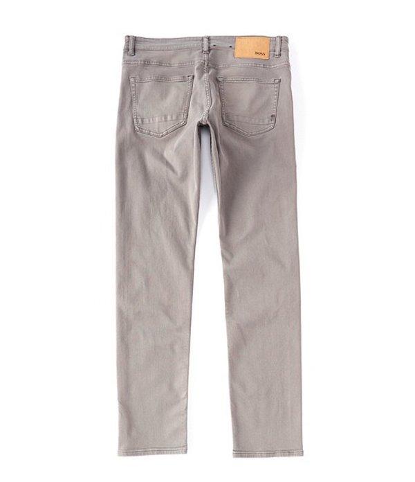 ヒューゴボス メンズ デニムパンツ ボトムス BOSS Slim-Fit Delaware Comfort Stretch Denim Jeans Dark Grey