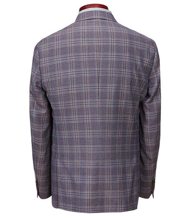 テッドベーカー メンズ ジャケット・ブルゾン アウター Slim Fit Plaid Wool Sportcoat Purple