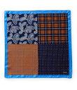 ダニエル クレミュ メンズ ネクタイ アクセサリー 4-Square Woven Silk Pocket Square Orange