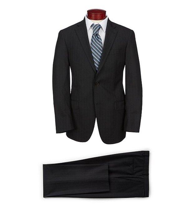 ハート シャフナー マルクス メンズ ジャケット・ブルゾン アウター Modern Fit Striped Suit Black