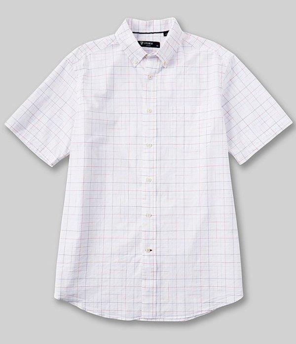 ダニエル クレミュ メンズ シャツ トップス Space Dye Check Short-Sleeve Woven Shirt White