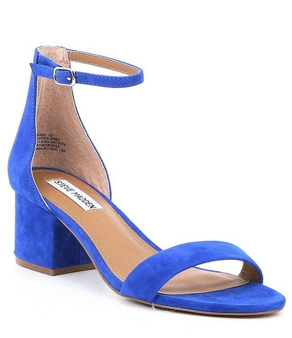 サンダル, コンフォートサンダル  Irenee Ankle Strap Suede Block Heel Dress Sandals Royal Blue Suede