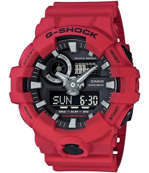 ジーショック メンズ 腕時計 アクセサリー Resin-Band Ana-Digi Watch Red