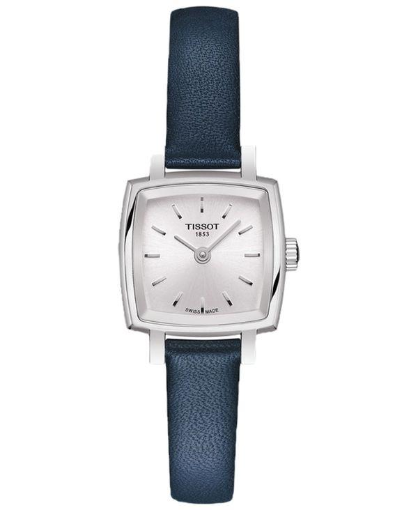 腕時計, レディース腕時計  Womens Swiss T-Lady Lovely Blue Leather Strap Watch 20mm Blue