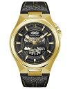 ブロバ メンズ 腕時計 アクセサリー Men's Automatic Maquina Black Leather Strap Watch 46mm Black