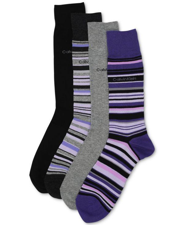 靴下・レッグウェア, 靴下  Mens 4-Pack Multi-Stripe Dress Socks Orient BlueGreyGraphite