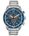 シチズン メンズ 腕時計 アクセサリー Drive From Citizen Eco-Drive Men's Chronograph LTR Stainless Steel Bracelet Watch 45mm Silver
