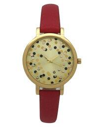 オリビアプラット レディース 腕時計 アクセサリー Women's Confetti Thin Leather Strap Watch Red
