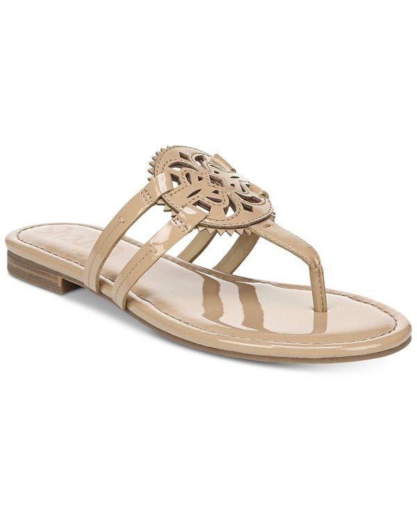 サンダル, コンフォートサンダル  Womens Canyon Medallion Flat Sandals Almond Patent